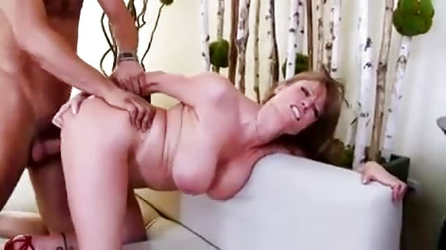 girl with giant dildo stretching asshole